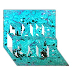 Aquamarine Collection Take Care 3d Greeting Card (7x5)