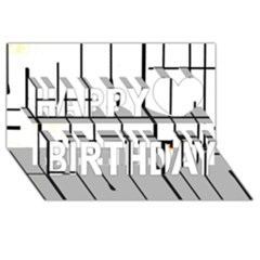 White Limits By Jandi Happy Birthday 3d Greeting Card (8x4)