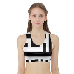 Black And White Women s Sports Bra With Border by timelessartoncanvas