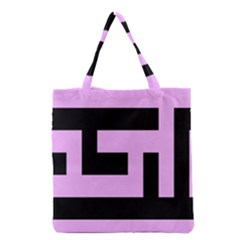 Black And Pink Grocery Tote Bag by timelessartoncanvas