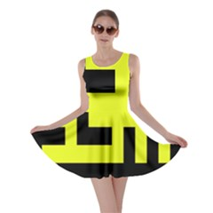 Black And Yellow Skater Dress by timelessartoncanvas