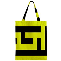 Black And Yellow Zipper Classic Tote Bag