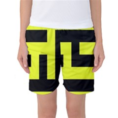 Black And Yellow Women s Basketball Shorts
