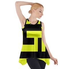 Black And Yellow Side Drop Tank Tunic by timelessartoncanvas