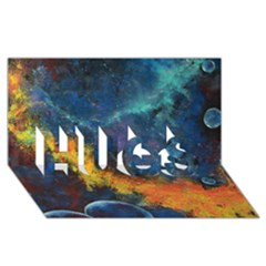Space Balls Hugs 3d Greeting Card (8x4)  by timelessartoncanvas