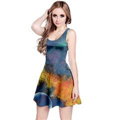 Space Balls Reversible Sleeveless Dress by timelessartoncanvas