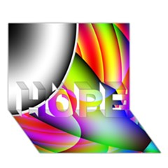 Psychedelic Design Hope 3d Greeting Card (7x5)  by timelessartoncanvas