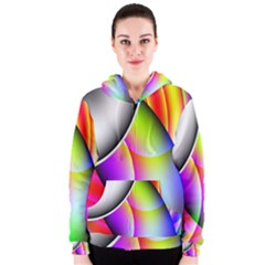 Psychedelic Design Women s Zipper Hoodie by timelessartoncanvas