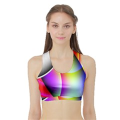 Psychedelic Design Women s Sports Bra With Border by timelessartoncanvas