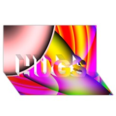 Colorful 1 Hugs 3d Greeting Card (8x4)  by timelessartoncanvas
