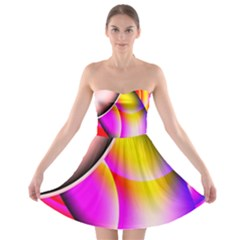 Colorful 1 Strapless Dresses by timelessartoncanvas