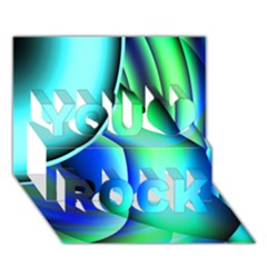 New 2 You Rock 3d Greeting Card (7x5)  by timelessartoncanvas