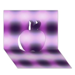 New 3 Apple 3d Greeting Card (7x5)  by timelessartoncanvas