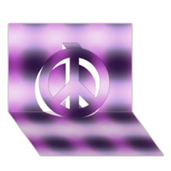 New 3 Peace Sign 3d Greeting Card (7x5)  by timelessartoncanvas