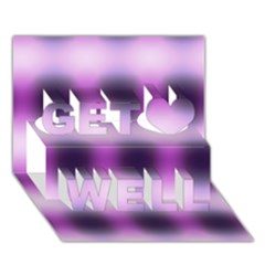 New 3 Get Well 3d Greeting Card (7x5)