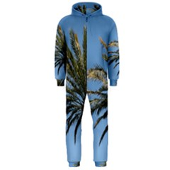 Tropical Palm Tree  Hooded Jumpsuit (men)  by BrightVibesDesign