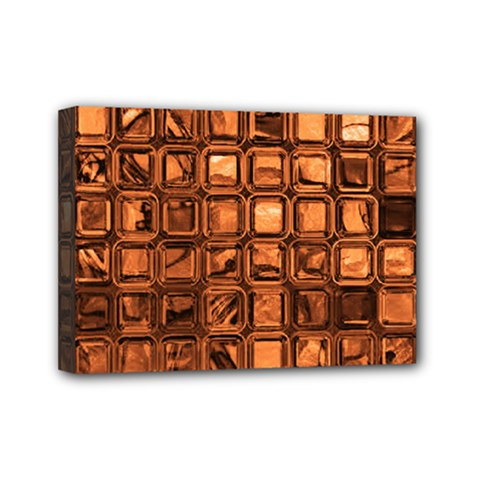 Glossy Tiles, Terra Mini Canvas 7  X 5  by MoreColorsinLife