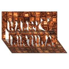Glossy Tiles, Terra Happy Birthday 3d Greeting Card (8x4)