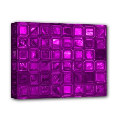 Glossy Tiles,purple Deluxe Canvas 14  X 11  by MoreColorsinLife