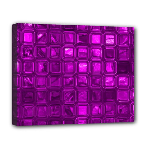 Glossy Tiles,purple Deluxe Canvas 20  X 16   by MoreColorsinLife
