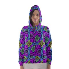 Collage Ornate Print Hooded Wind Breaker (women) by dflcprintsclothing