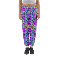 Collage Ornate Print Women s Jogger Sweatpants