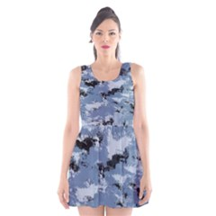 Abstract #3 Scoop Neck Skater Dress