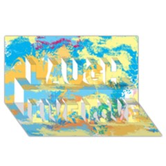Abstract #5 Laugh Live Love 3d Greeting Card (8x4)