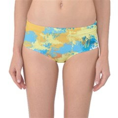 Abstract #5 Mid Waist Bikini Bottoms by Uniqued