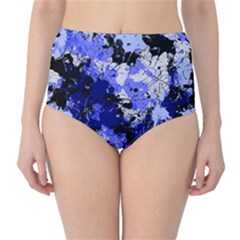 Abstract #7 High Waist Bikini Bottoms by Uniqued