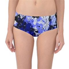 Abstract #7 Mid Waist Bikini Bottoms by Uniqued
