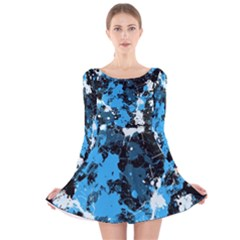 Abstract #8 Long Sleeve Velvet Skater Dress