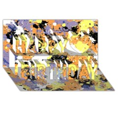 Abstract #9 Happy Birthday 3d Greeting Card (8x4)  by Uniqued
