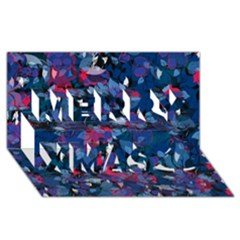 Abstract Floral #3 Merry Xmas 3d Greeting Card (8x4)