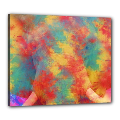 Abstract Elephant Canvas 24  X 20  by Uniqued