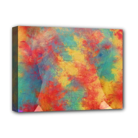 Abstract Elephant Deluxe Canvas 16  X 12   by Uniqued