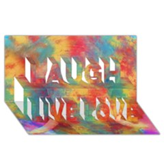 Abstract Elephant Laugh Live Love 3d Greeting Card (8x4)
