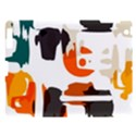 Shapes in retro colors on a white background 			Apple iPad 3/4 Hardshell Case View1