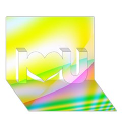 New 4 I Love You 3d Greeting Card (7x5)
