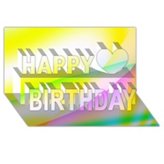 New 4 Happy Birthday 3d Greeting Card (8x4)  by timelessartoncanvas