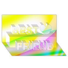 New 4 Best Friends 3d Greeting Card (8x4)  by timelessartoncanvas