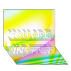 New 4 You Are Invited 3d Greeting Card (7x5)  by timelessartoncanvas