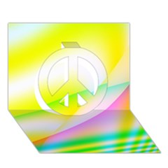 New 4 Peace Sign 3d Greeting Card (7x5)  by timelessartoncanvas