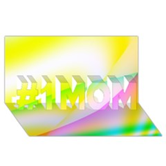 New 4 #1 Mom 3d Greeting Cards (8x4)  by timelessartoncanvas