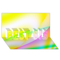 New 4 Best Sis 3d Greeting Card (8x4)  by timelessartoncanvas