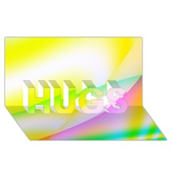 New 4 Hugs 3d Greeting Card (8x4)  by timelessartoncanvas