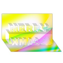 New 4 Merry Xmas 3d Greeting Card (8x4)