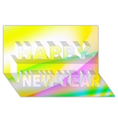 New 4 Happy New Year 3d Greeting Card (8x4)  by timelessartoncanvas