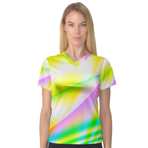 New 4 Women s V-neck Sport Mesh Tee by timelessartoncanvas