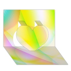 New 5 Heart 3d Greeting Card (7x5)  by timelessartoncanvas
